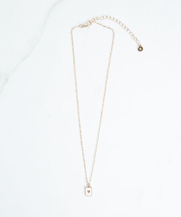 heart pendant necklace, Gold