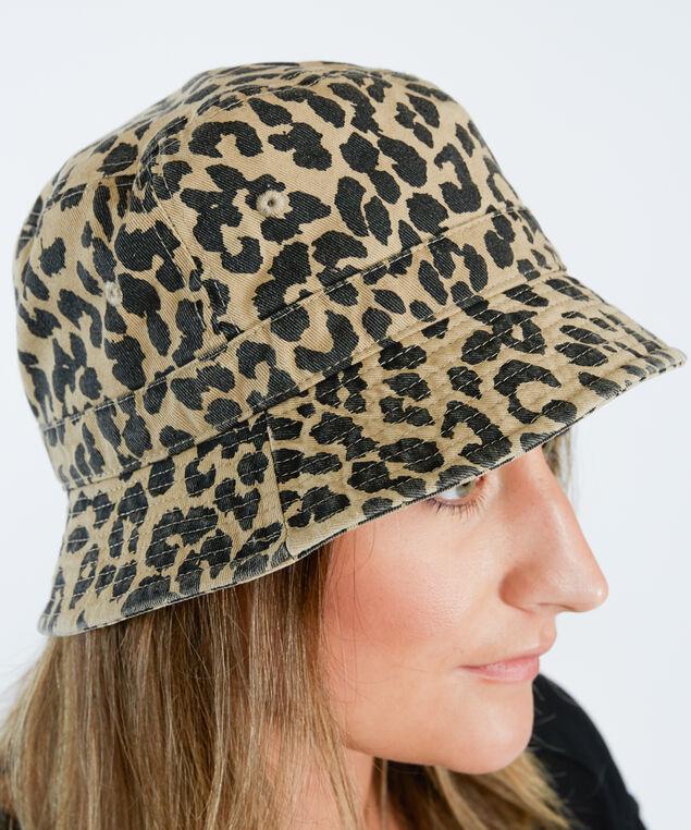 leopard bucket hat, Tan