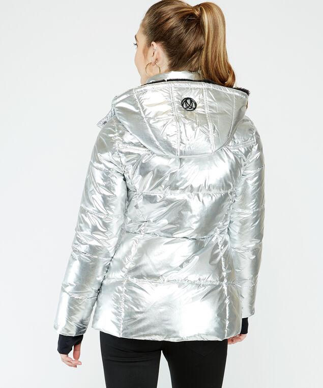 metalic polyfill puffer - wb, Silver, hi-res
