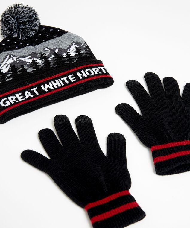 great white north winter set, black pattern, hi-res