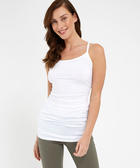 ally ruched sl2, WHITE, hi-res