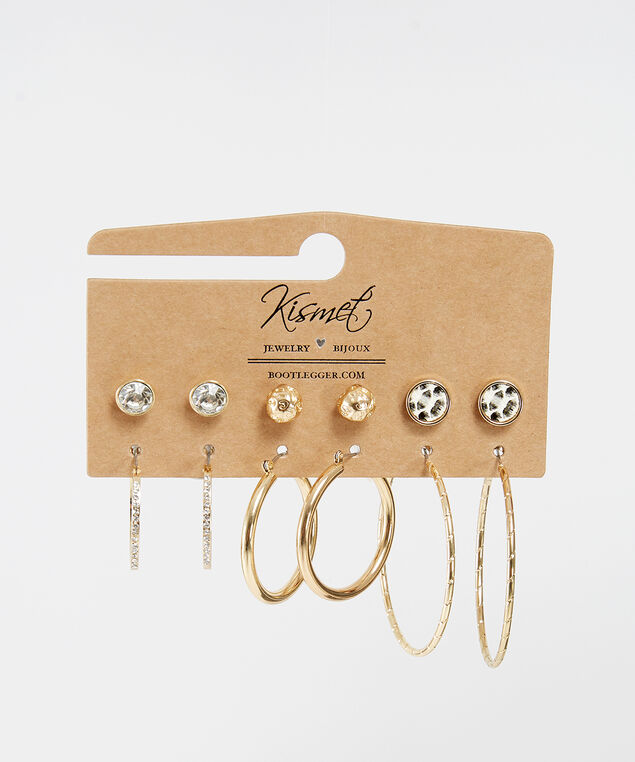 stud and hoop multi-pack, GOLD, hi-res
