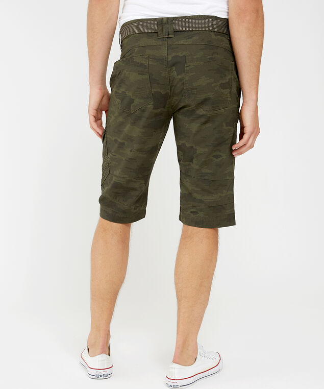 ripstop camo cargo shorts, OLIVE, hi-res