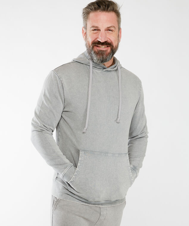 pigment dye hoody, Grey