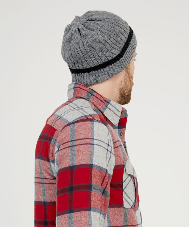 mens knit toque, GREY, hi-res