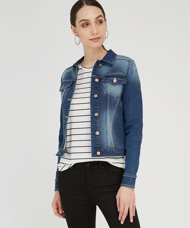 fleece denim jacket, DSW, hi-res