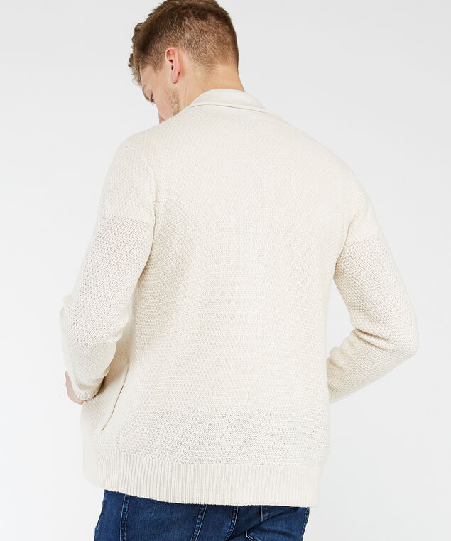 button front sweater, Ivory