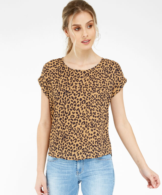 animal print top - wb, TAN SKIN, hi-res