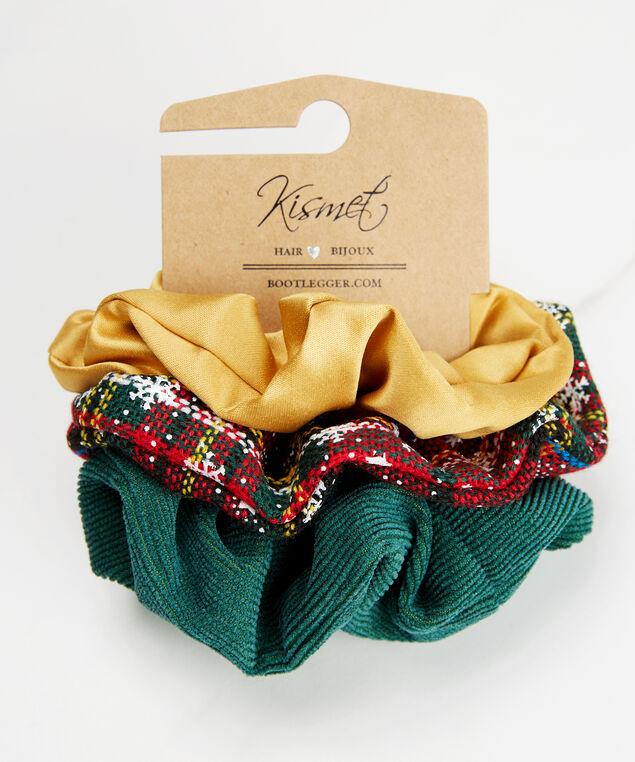 Set of 3 hair scrunchies, Multi, hi-res