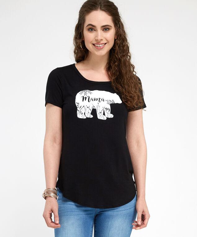mama bear floral, BLACK, hi-res