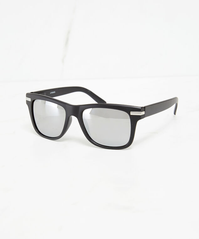 mirror lens sunglasses, Black, hi-res