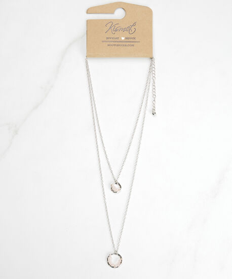 short layered pendant necklace, Silver, hi-res