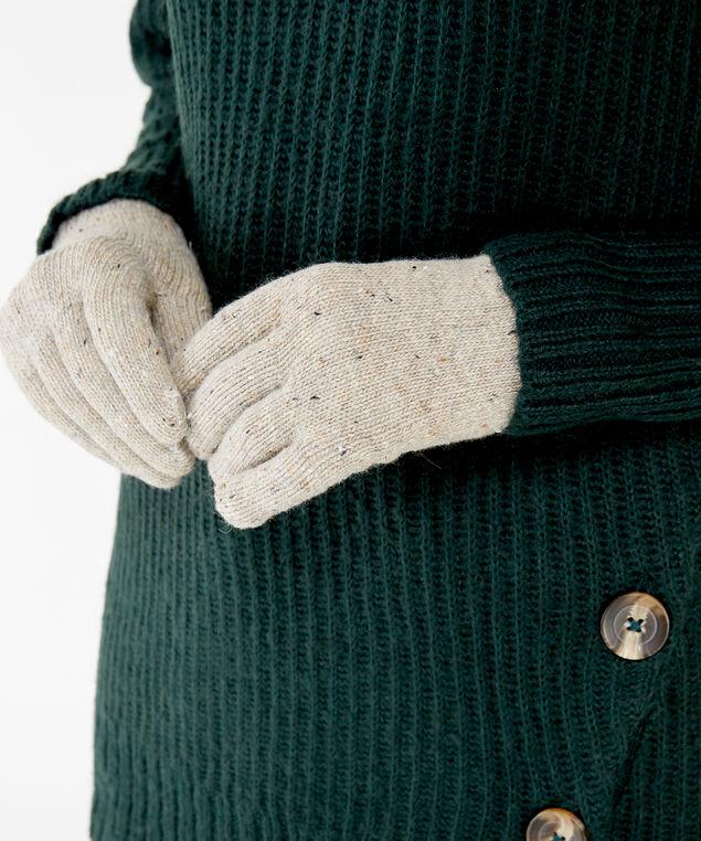 speckled gloves, LIGHT BROWN, hi-res