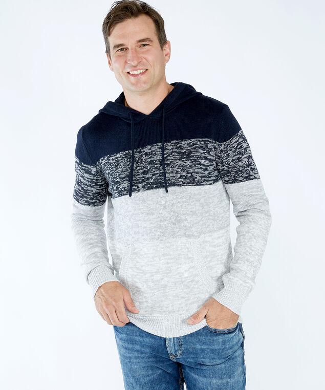 striped hoodie, Blue Pattern