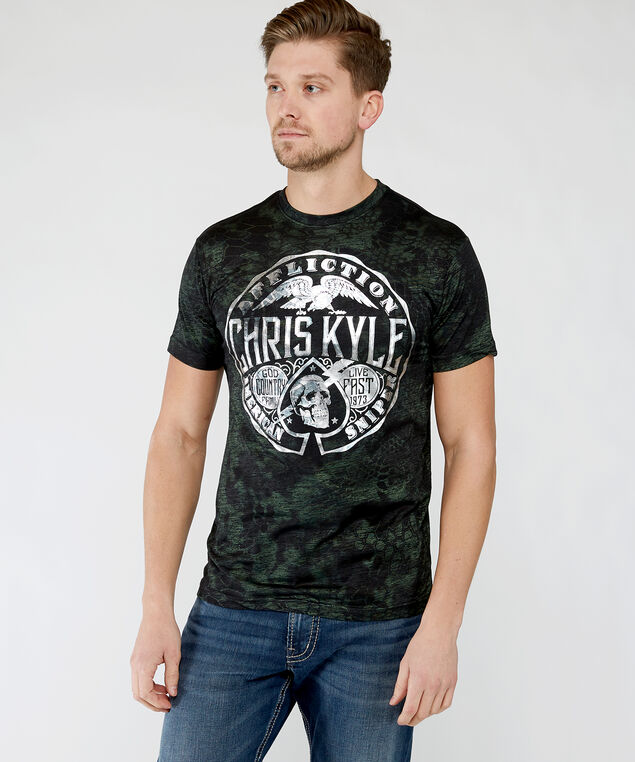 chris kyle graphic tee, Black Pattern