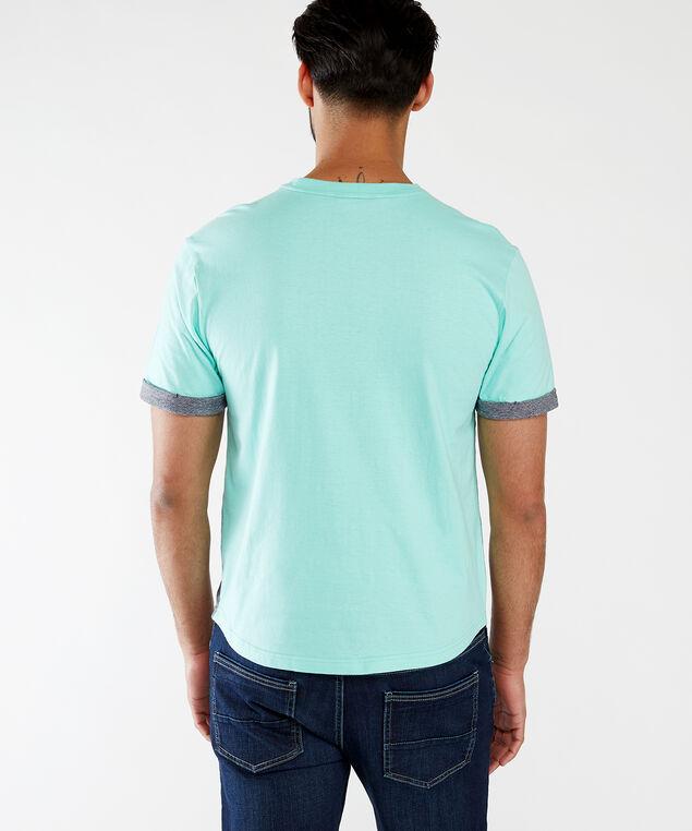 colour block crew neck tee, Grey Combination