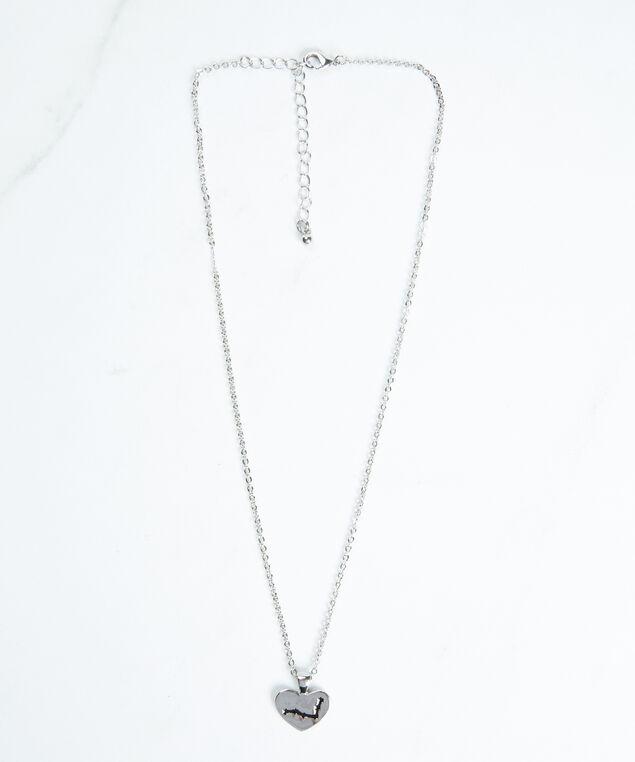 pisces zodiac necklace, Silver