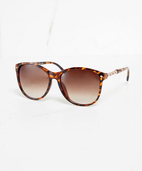 tortoise shell wayfarer sunglasses, Orange, hi-res