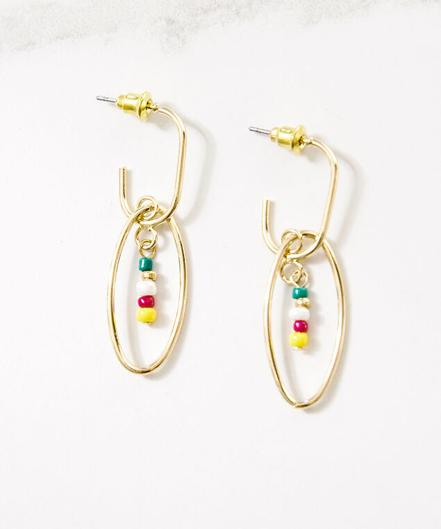 paper clip hoops, Gold, hi-res