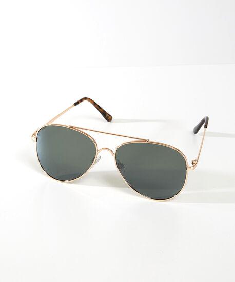 metal aviator sunglasses, Gold, hi-res