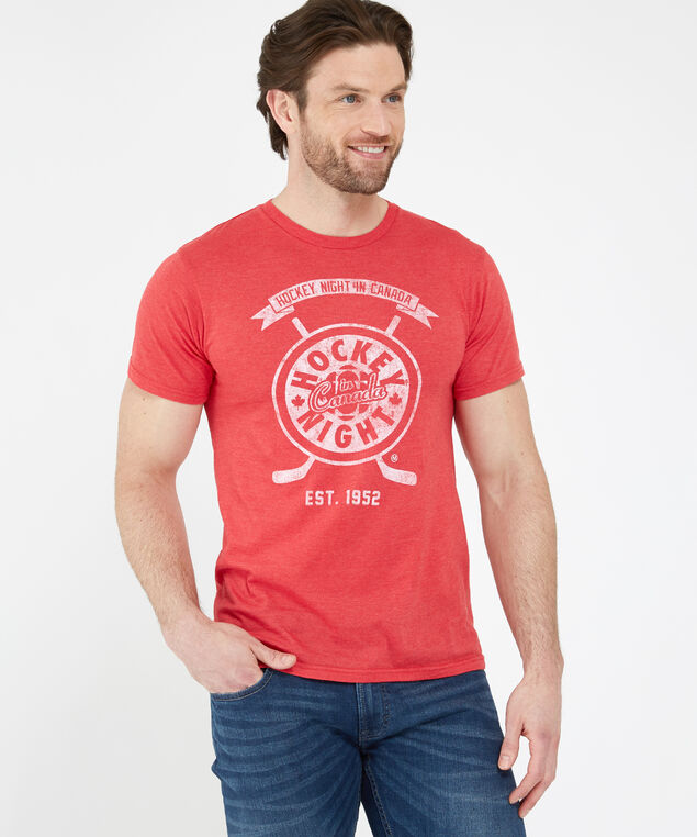 hockey night in canada tee, RED HEATHER, hi-res