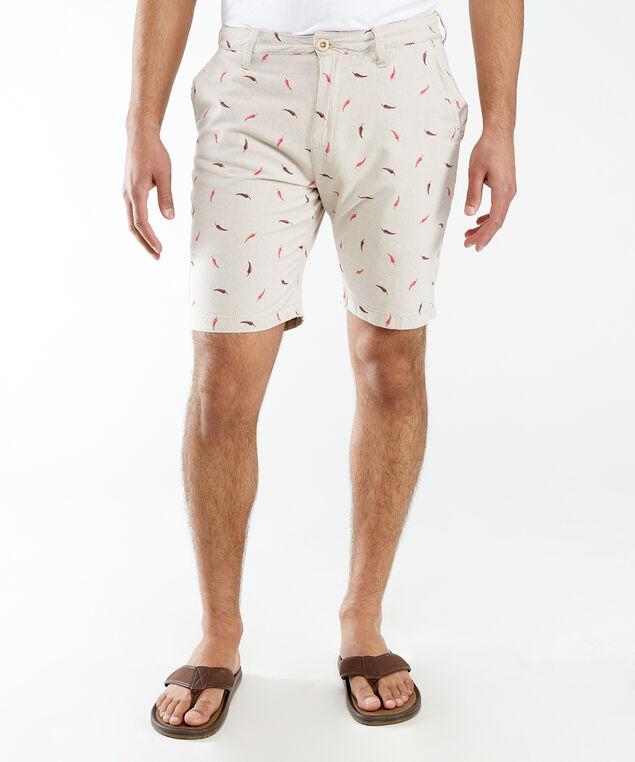 chili shorts, Natural Linen