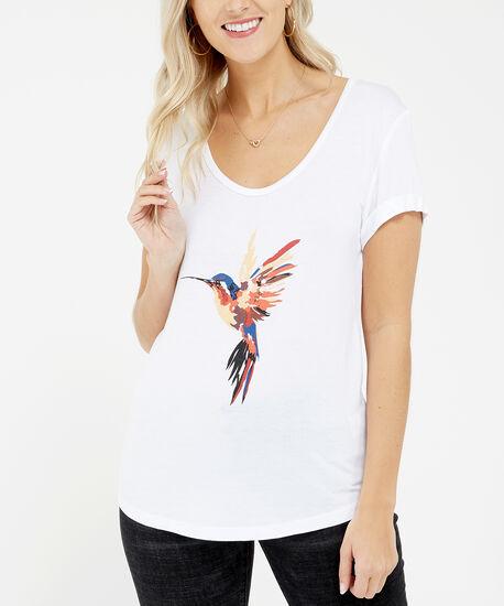watercolour bird, White, hi-res