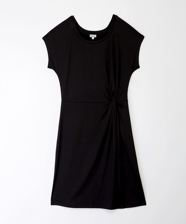 marley su20 cap-sleeve dress, Black, hi-res