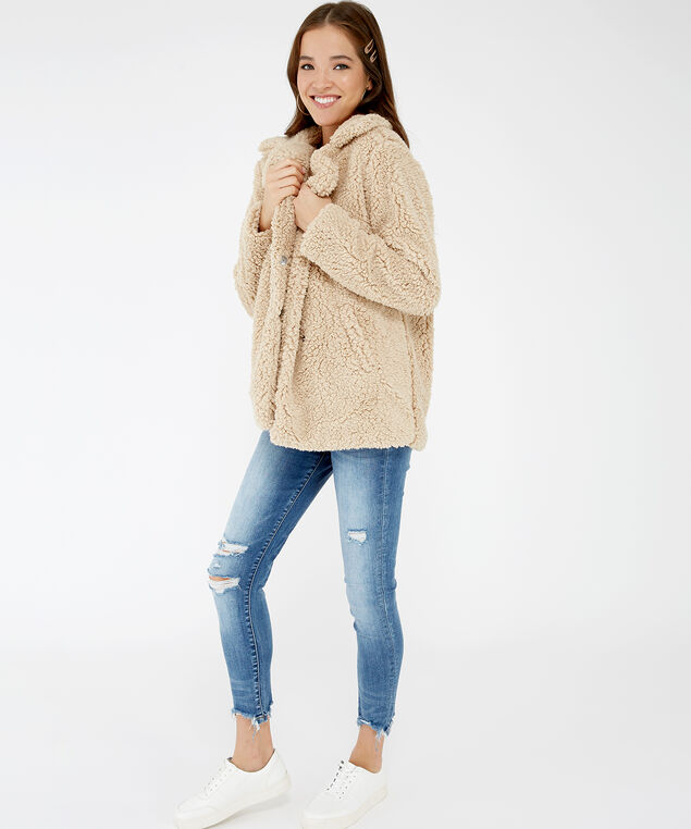 teddy coat - wb, Beige, hi-res