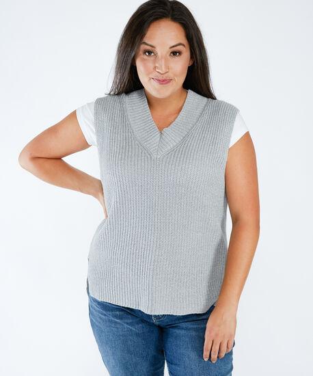 sweater vest, Granite Mel, hi-res
