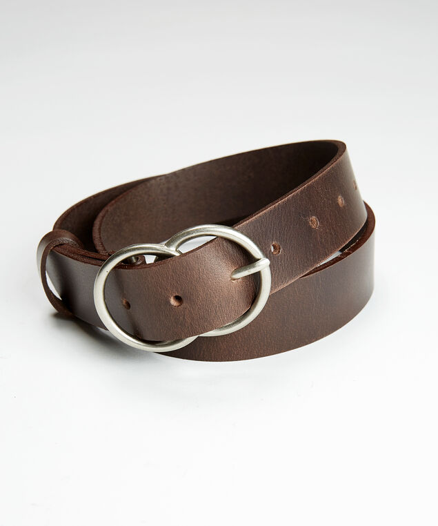 double O ring belt, Brown, hi-res