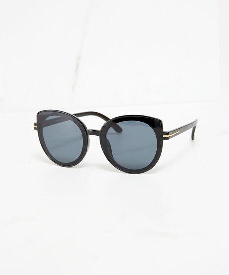 round cateye sunglasses, Black, hi-res