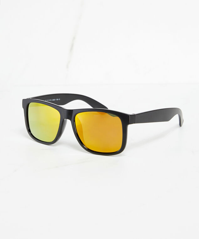 yellow mirrored lens sunglasses, Yellow