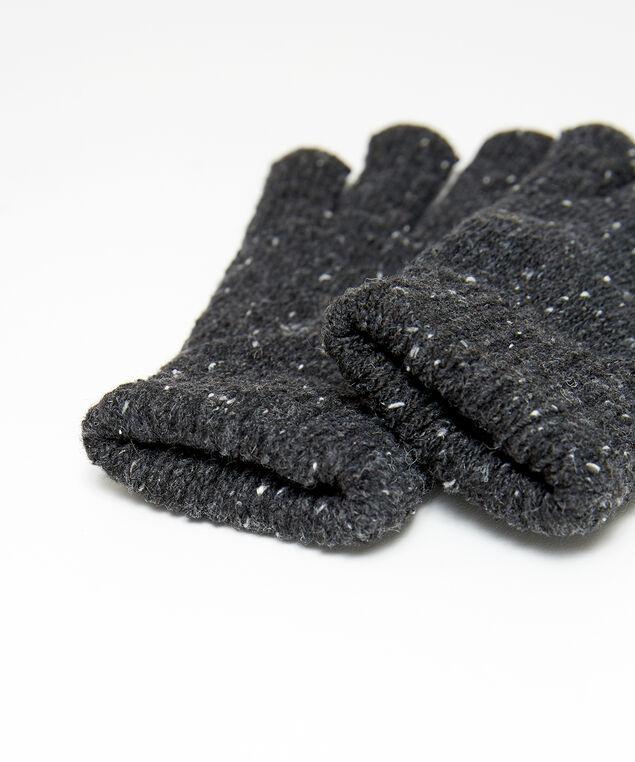 speckled gloves, DARK GREY, hi-res
