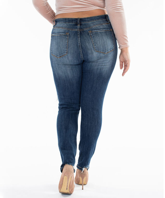 destructed skinny plus size, , hi-res