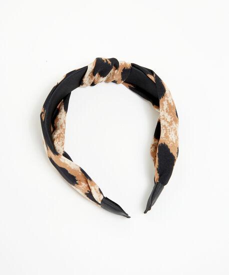 leopard print headband, Brown Pattern, hi-res