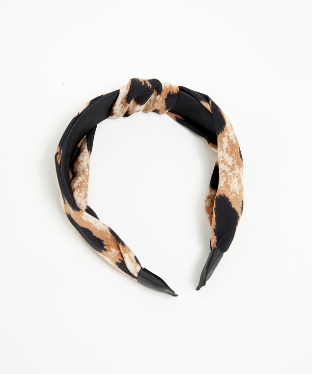 leopard print headband, Brown Pattern, hi-res