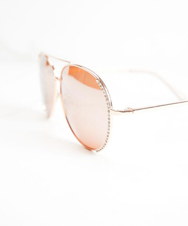 women's crystal aviator sunglasses, Pink