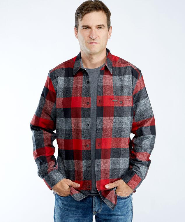 flannel shirt, Black/Crimson