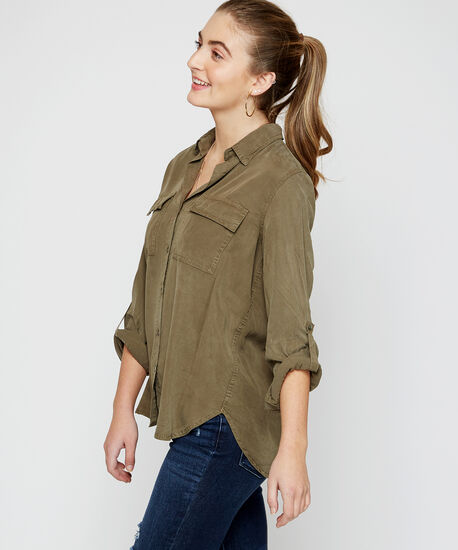 utility pocket shirt - wb, Green, hi-res