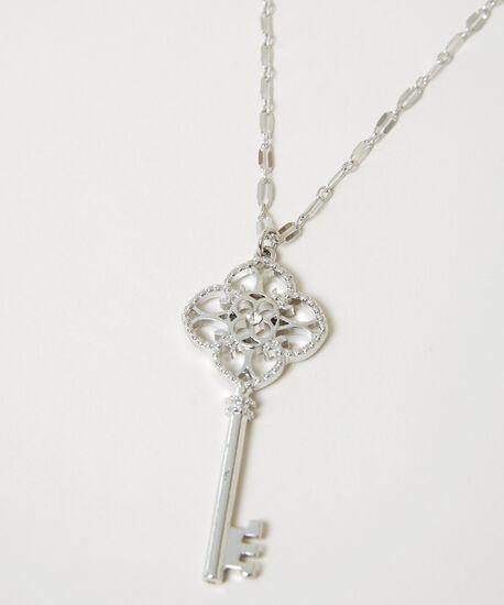 key pendant necklace, SILVER, hi-res
