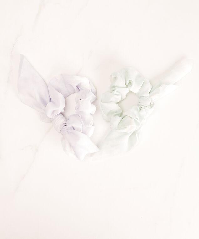 tie dye hair scrunchies, Green/Purple Pt