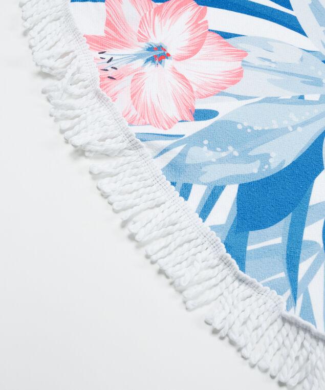 flamingo print circle towel, Pink