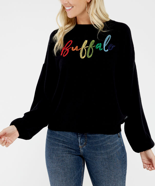 lightweight embroidered popover - wb, Black, hi-res