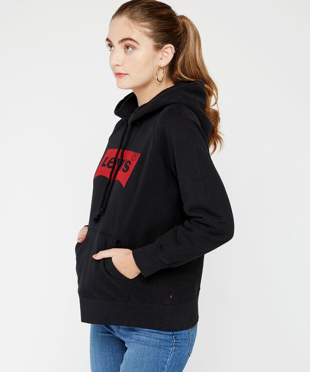 sport hoodie, Black, hi-res