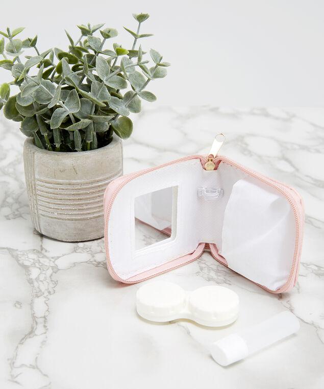 travel contact lens case, PINK, hi-res