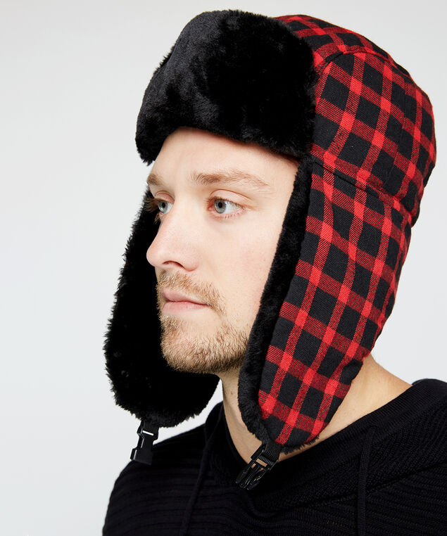 plaid trapper hat, Buffalo Plaid, hi-res