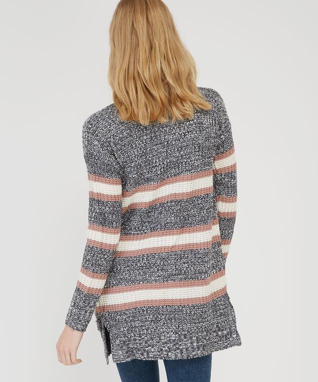 striped cardigan - wb, BLUE COMBO, hi-res