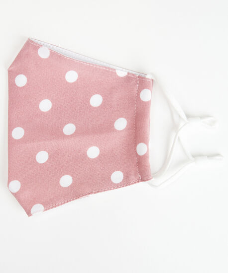 polka dot face mask, Pink, hi-res