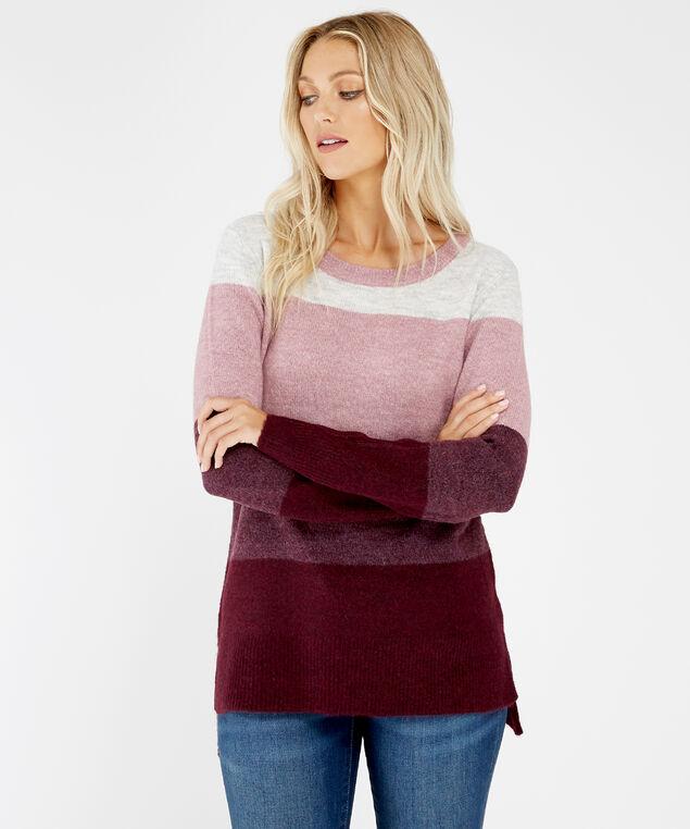 zelda, pink/wine stripe, hi-res
